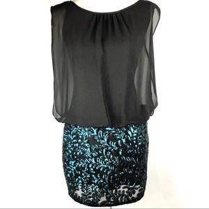 Aidan Mattox Women's Cocktail Dress Sequin Sz 2